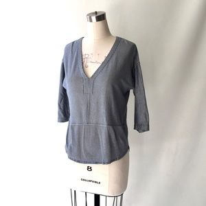 Madewell Striped Cotton Jersey Tunic Blouse